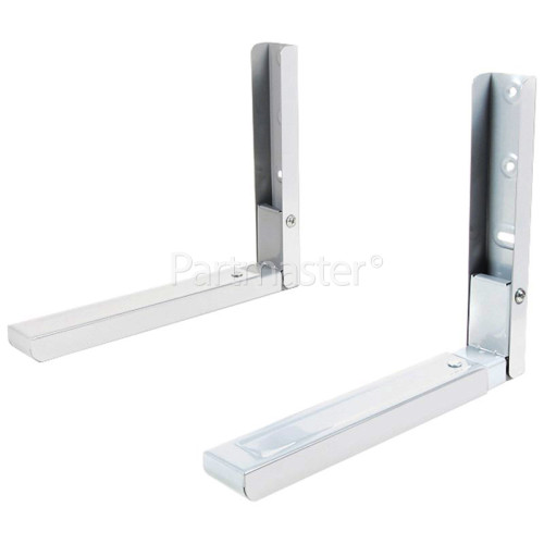 Wellco BMG25E Microwave Oven Wall Bracket (Pair) White