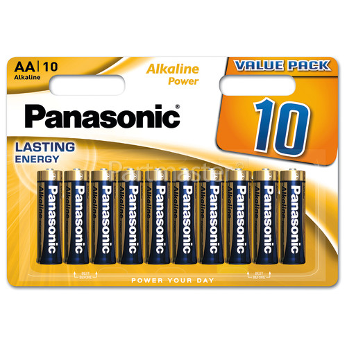 Panasonic AA Alkaline Power Batteries (Pack Of 10)