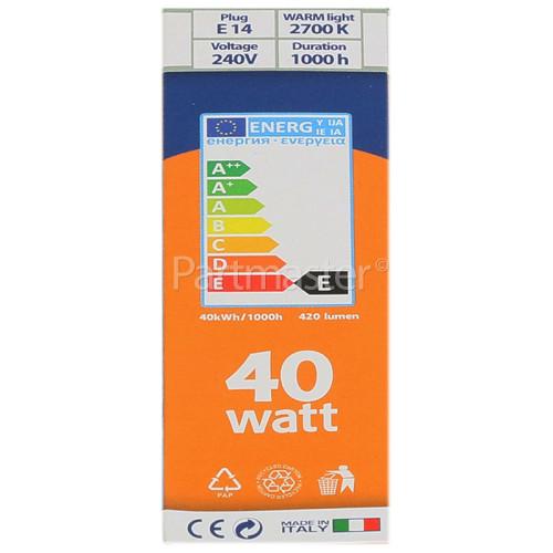Electrolux Group 40W SES (E14) Cooker Hood Lamp