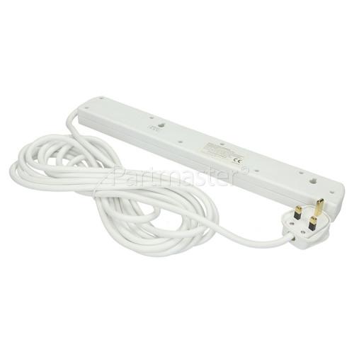 Tacima 6-Way Surge Protected Mains Extension - UK Plug