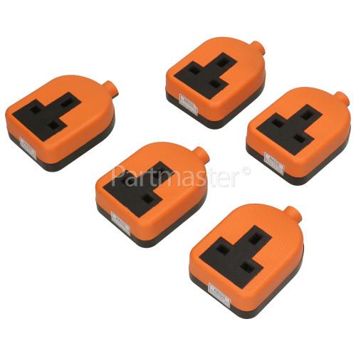 Wellco Bulk 13A Orange Single Trailing Socket Rubberised (Box Of 5)