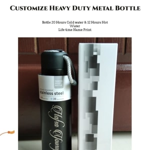 Customize name Stainless Steel Heavy duty Water bottle