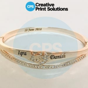 Customize Engraved Name Bangle