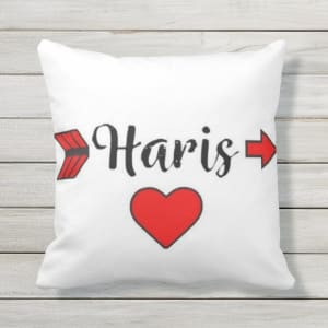 Customized Name Printing Cushion