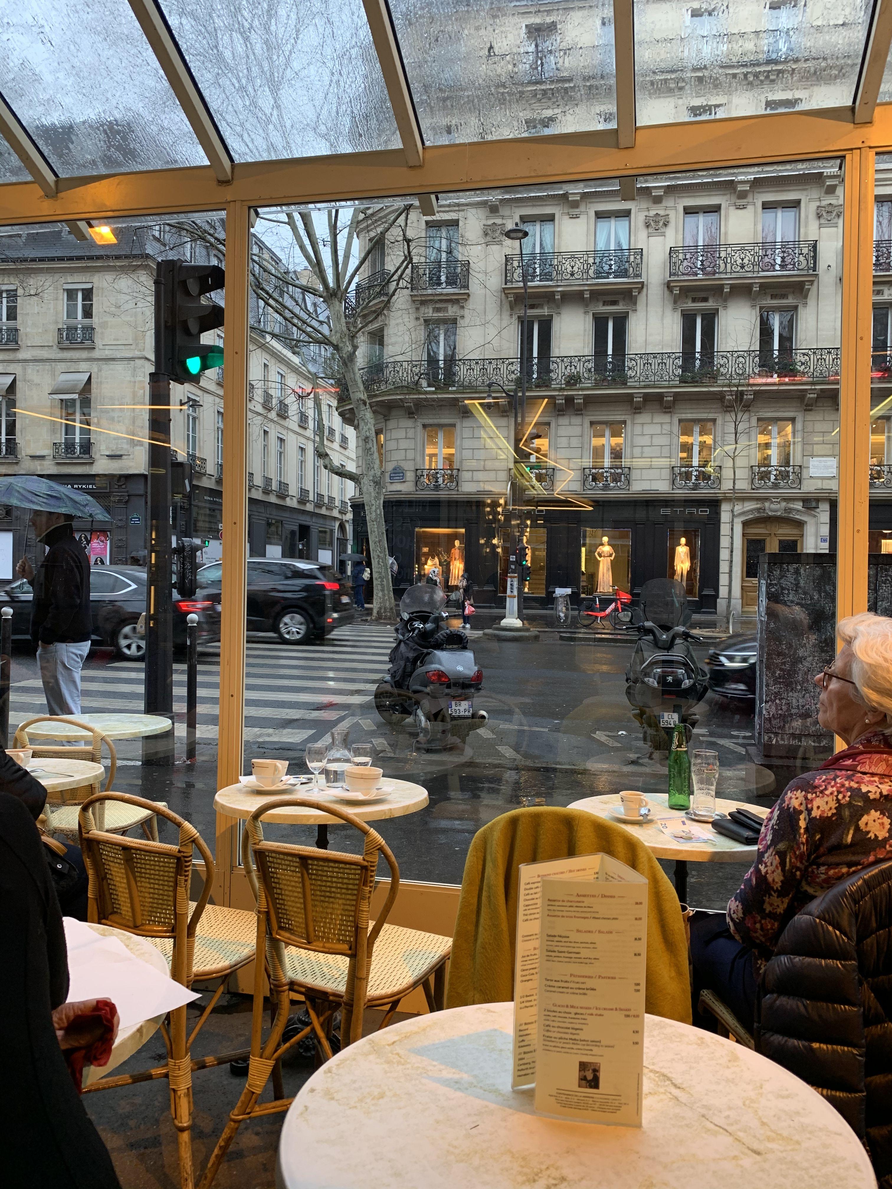 People watching in Paris