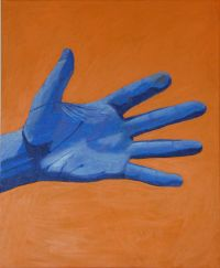 Blue hand painting