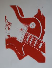Gibson Les Paul screen print