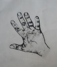 Print of the artists's hand