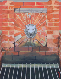 Lions head drain at Sudbury Hall