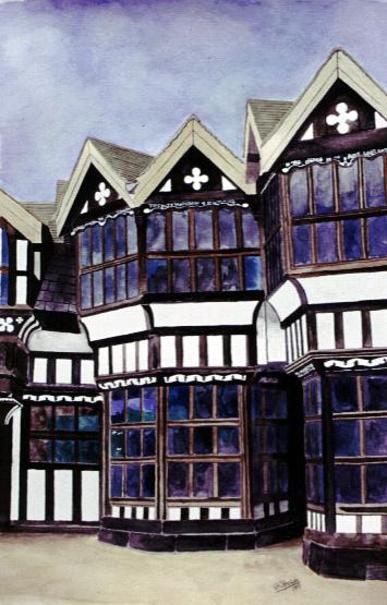 Little Moreton Hall painting
