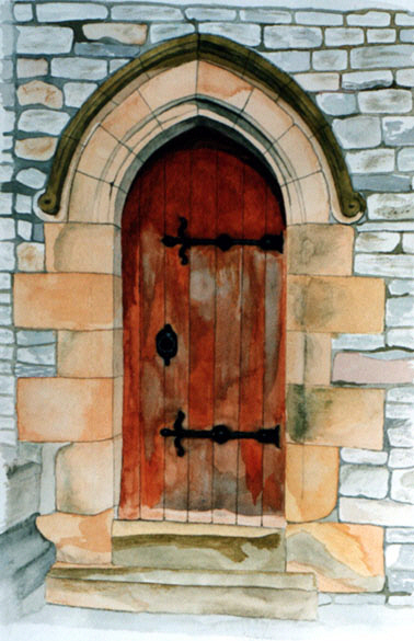 Church door in Chesterfield