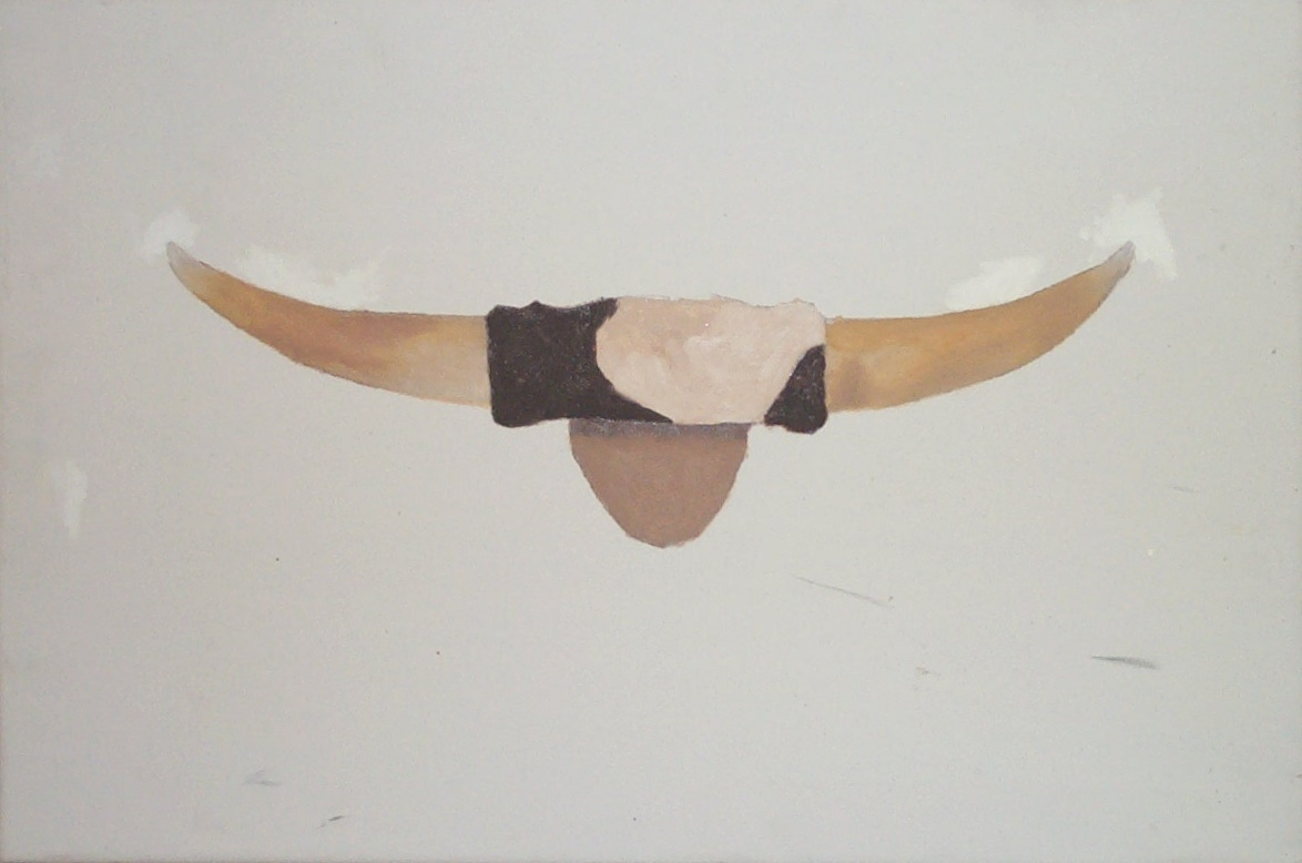 Cow's horns painting