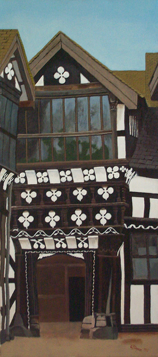 Little Moreton Hall painting