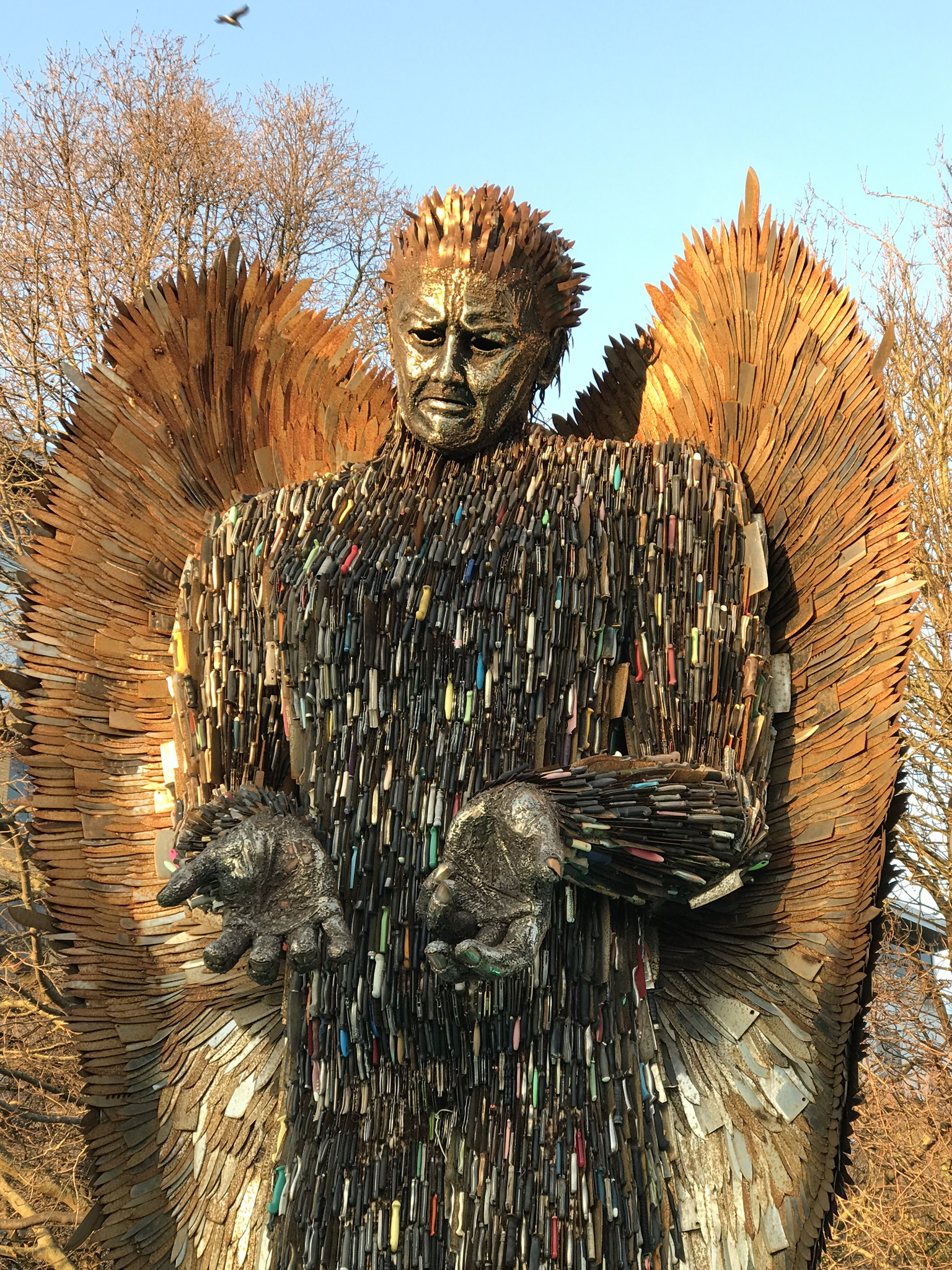 Knife Angel sculpture in Hull