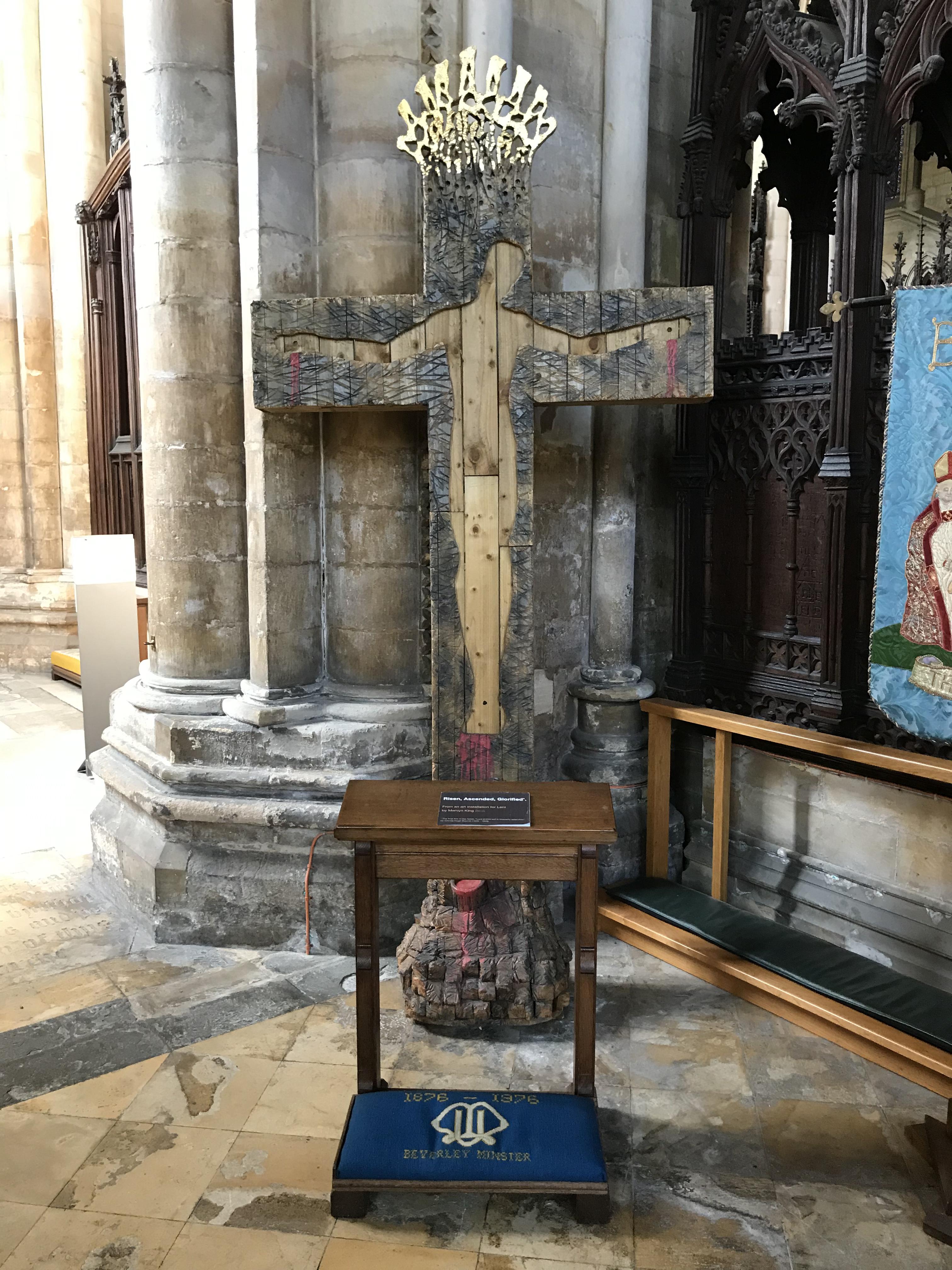 Crucifixion installation