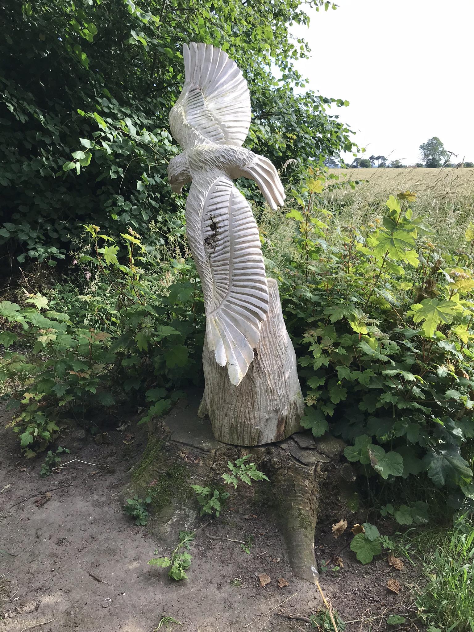 Carved eagle at Burton agnes Hall