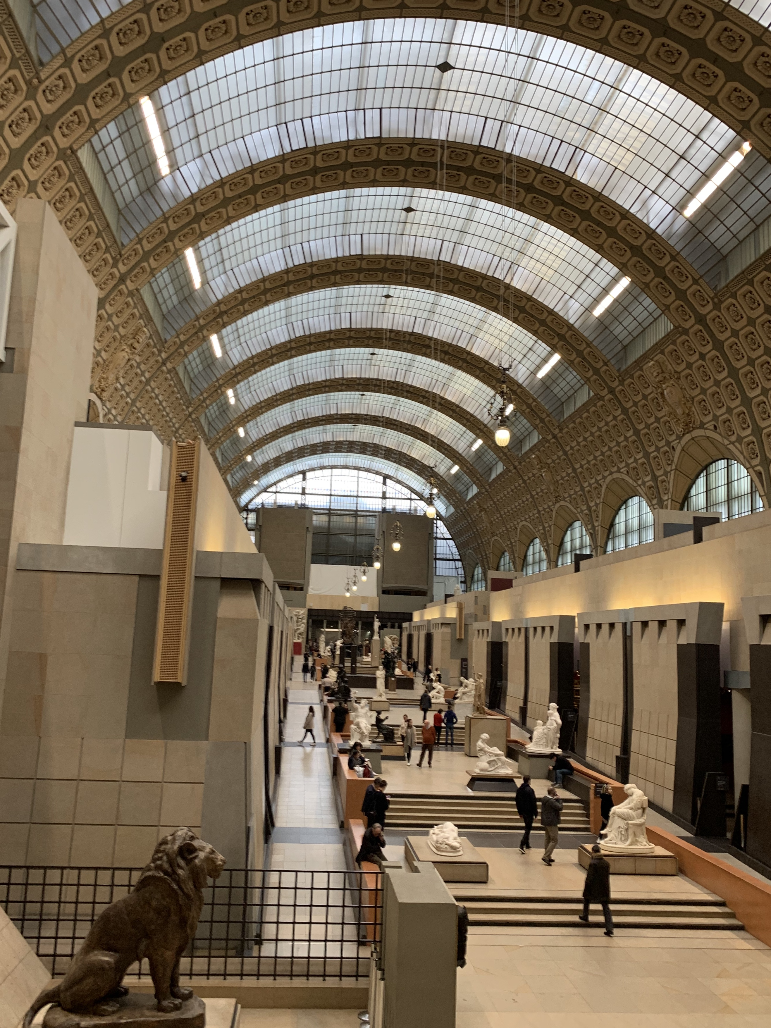 The Musee d'Orsay has a grandeur of its own which enhances the art