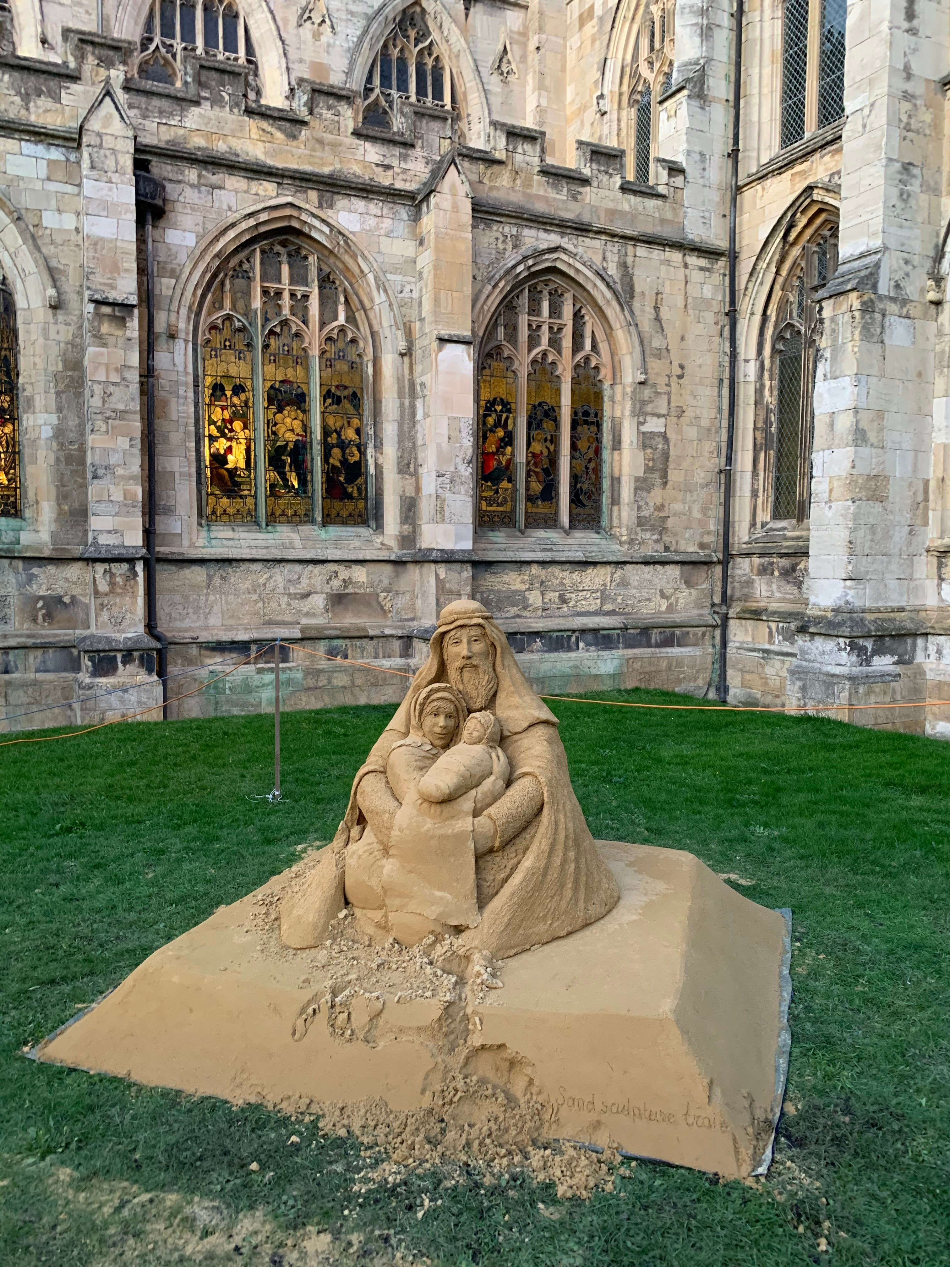 Christmas Sand Sculpture at St Mary's Church In Beverley