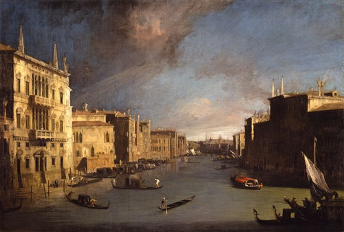 A typical Canaletto view of Venice