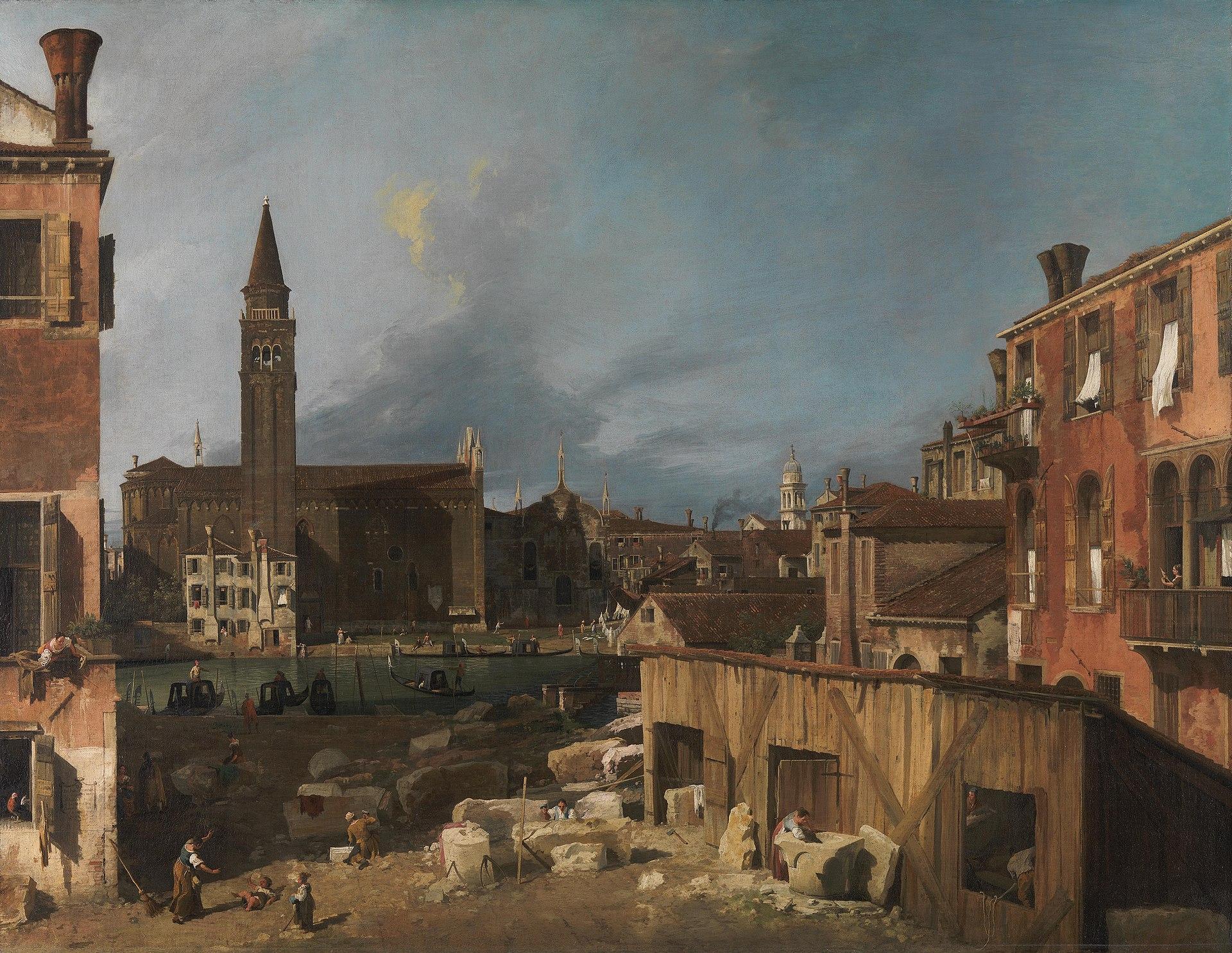 Canaletto's picture of a Venetian stonemason's yard (Courtesy Wikipedia)