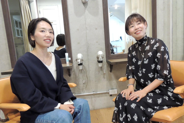 ヘアー & リゾート グランジ 北山田 岸 由紀子 店長 & 田村 美穂 副店長