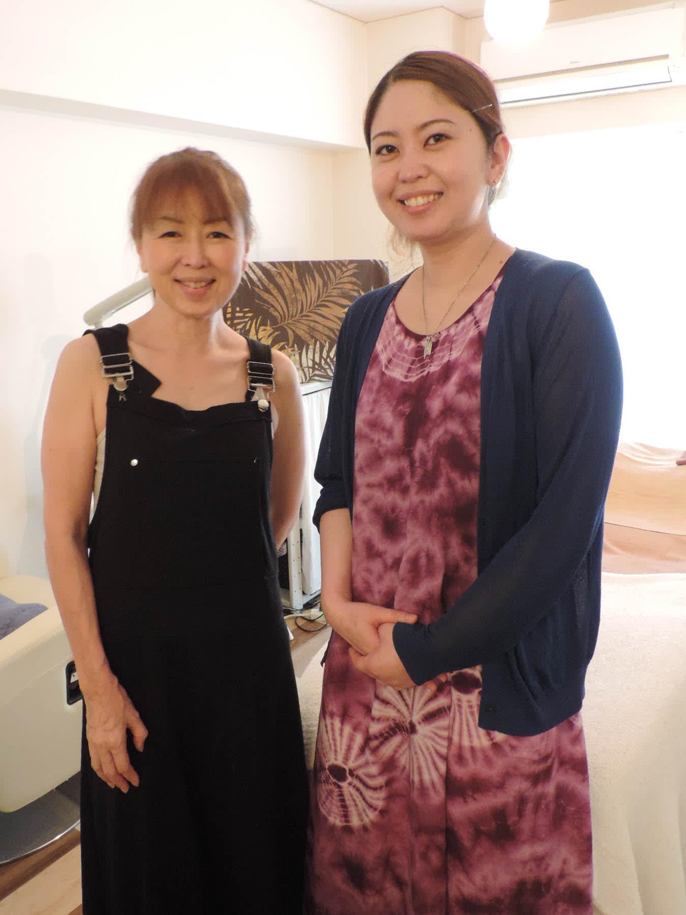 エステサロン kanaloa(カナロア) 大島 仁美 オーナー & 宮城 萠奈 さん