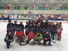 Товарищеская игра по хоккею