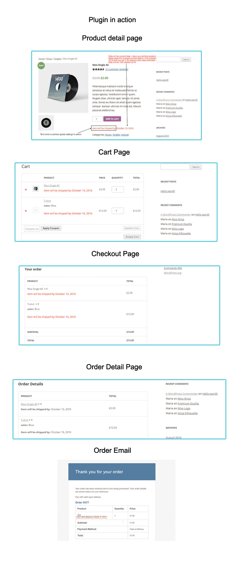 Woocommerce Estimated Delivery Date Per Product - 1