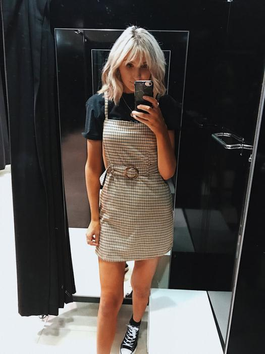 Primark Pinafore Dress £13.00 £trainers £8.00