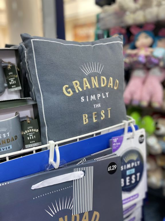 Grandad Cushion. £3.99, Card Factory