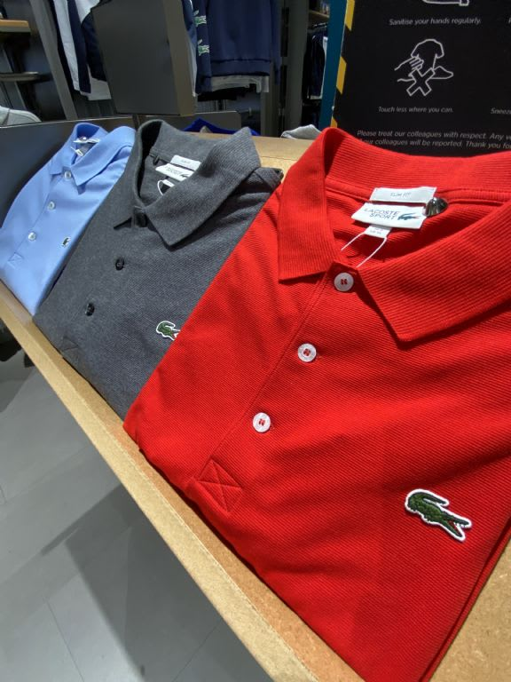 Lacoste Polo £65, Sports Direct