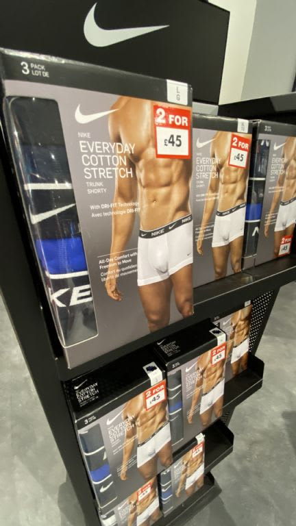 Sports Direct Men's Nike Boxers Offer 2 for £45