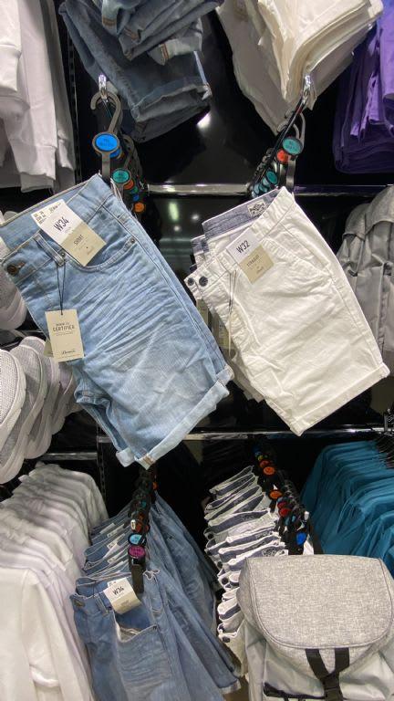 Mens denim shorts from £10 at Primark