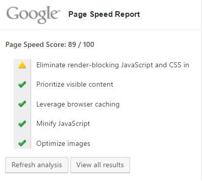 Google-Page-Speed-WordPress-Dashboard