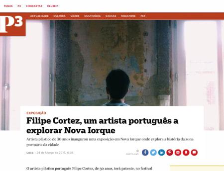 Filipe Cortez, um artista português a explorar Nova Iorque