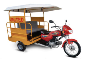 United 100CC Motorcycle Rickshaw