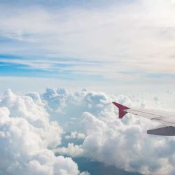 Can You Fly With A Blood Clot? View from plane window of the sky