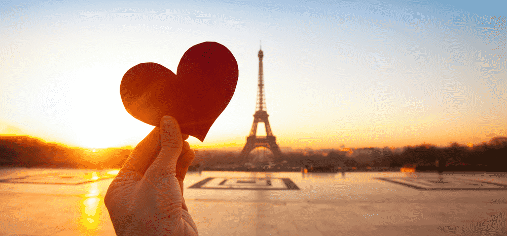 The 'new' most romantic destinations in the world: Love hearts in paris