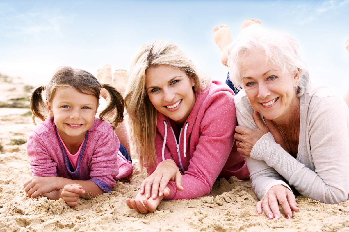 Mult-generational women laying on the beach as New Research Reveals the Truth About Ageing