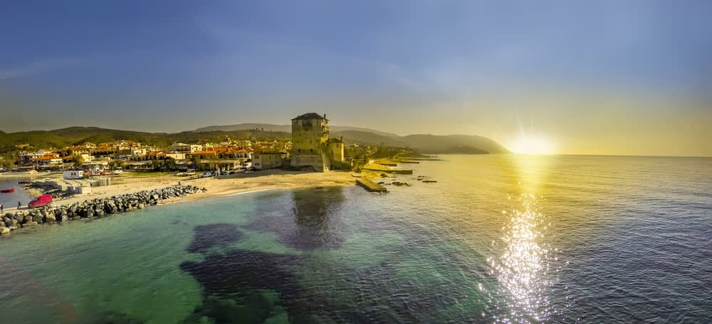 A holiday for ME: sunshine over sea in Greece