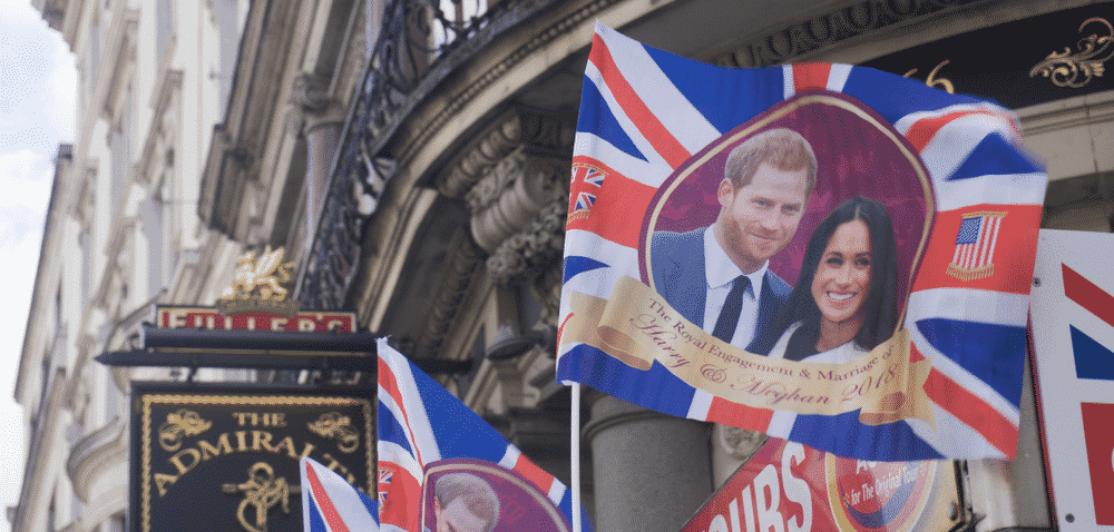 Five stunning wedding locations to rival the Royal Wedding: Prince Harry and Meghan Markle on a flag