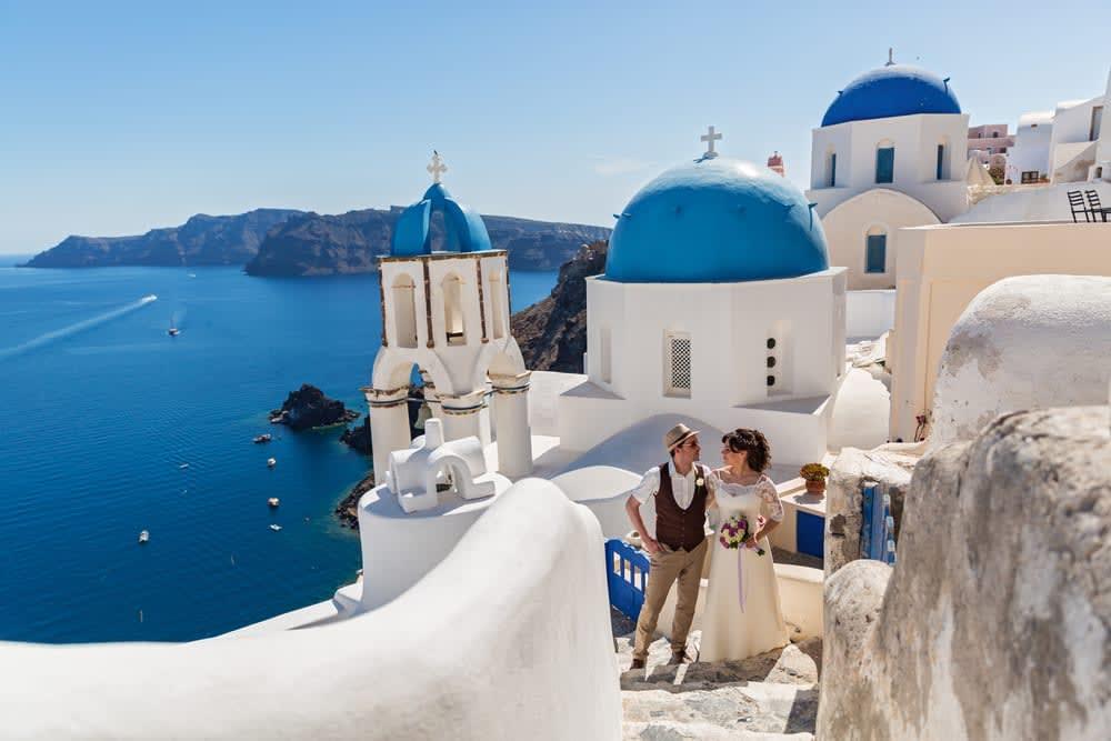 Five stunning wedding locations to rival the Royal Wedding: Santorini, Greece