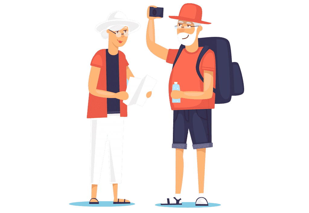 travelling with someone who has dementia: happy couple