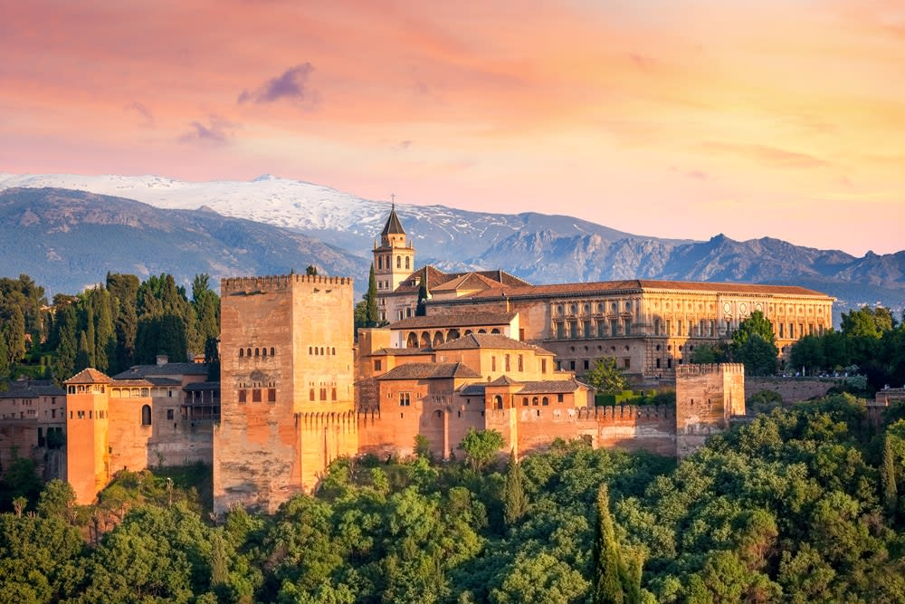 The most popular Spanish cities for holidaymakers this year: Ancient fortress Alhambra, in Granada, Spain,