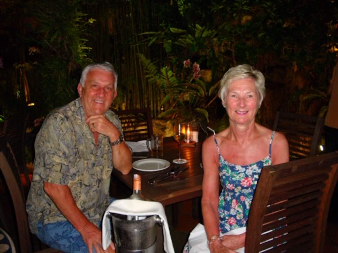 AllClear customers The Cook family enjoying a night out on holiday
