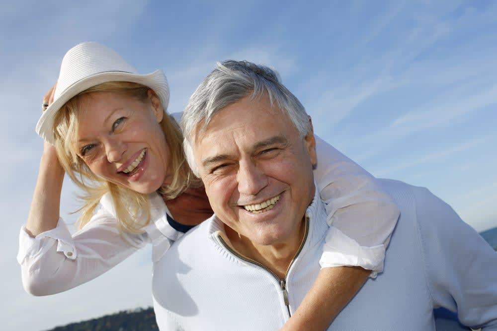 Senior couple enjoying their holiday