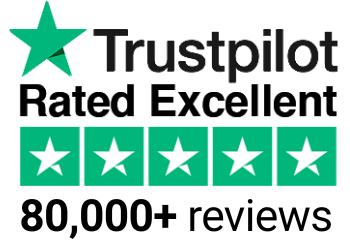 Trustpilot - rated Excellent - more than 50,000 reviews