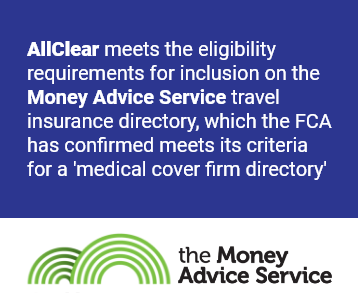 The FCA has confirmed AllClear meets the eligibility requirements for inclusion on the Money Advice Service travel insurance directory
