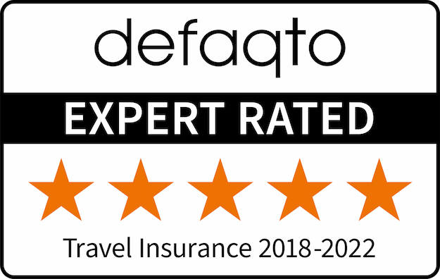 defaqto Expert Rated 2018-2021 5 star Travel Insurance