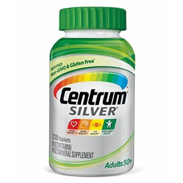 Centrum Silver Adult (220 Count) Multivitamin/Multimineral Supplement Tablet, Vitamin D3, Age 50+